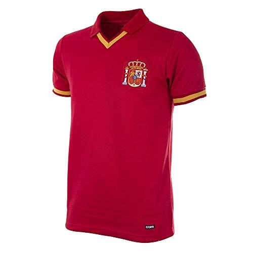 Copa - Camiseta de fútbol Retro de España 1988 para Hombre, International Football, España 1988 Retro Football Camisa, Hombre, Color Rojo, tamaño L