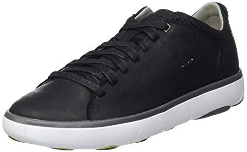 Geox Herren U Nebula Y A Sneaker, Black, 43 EU