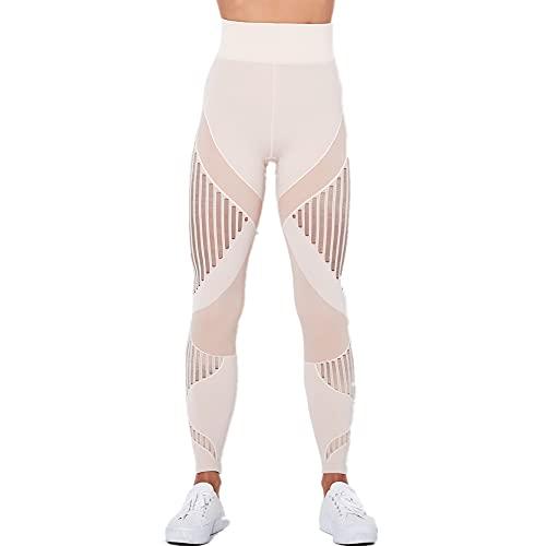 N\P Sin costuras De Punto Sexy Rayas Humedad Absorbiendo Yoga Ejercicio Fitness Pantalones Mujeres
