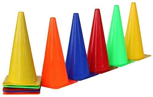 Boje Sport - Sport & Outdoor Freizeitzubehör in 2x blau, 2x grün, 2x rot, 2x gelb, 2x orange, Größe Höhe: 38 cm