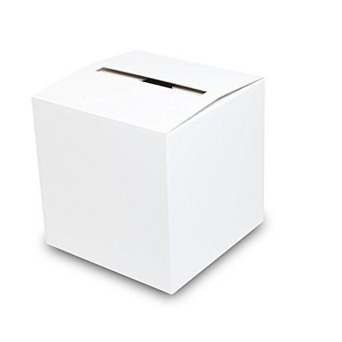 アンケートボックス【白】 50枚セット (アンケート回収箱 投票箱 回収BOX ダンボール 段ボール 紙箱)