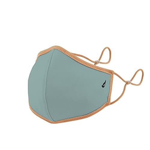 Abbacino mascarilla homologada y lavable para adulto color verde agua con tiras beige con ajuste nasal