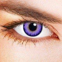 Eye-Effect Kontaktlinsen Violette Jahreslinsen, mehrfarbig / 0 Dioptrien, 2 Stück