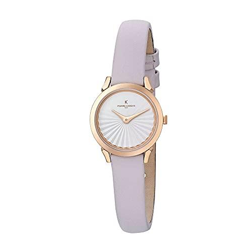 Pierre Cardin CPI.2503 - Reloj de pulsera para mujer (cuarzo, acero inoxidable, correa de piel)