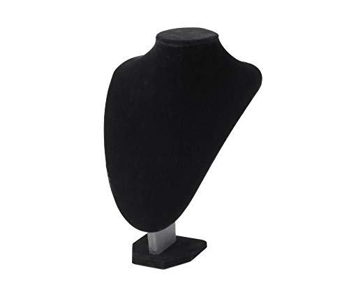 1pc Negro Busto Collar Joyería Pantalla