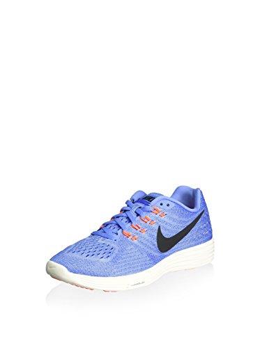 Nike Wmns Lunartempo 2, Zapatillas de Running Mujer, Azul (Chlk Blue/Blk-Rcr Bl-Hypr Orng), 39