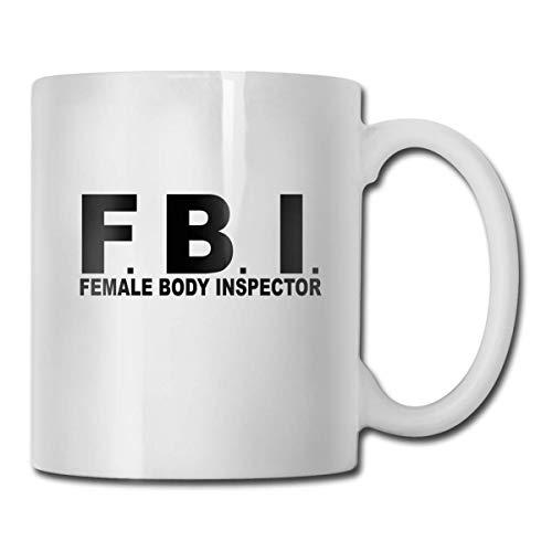 FBI - Taza de té con diseño de cuerpo femenino
