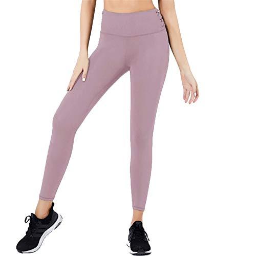 Pantalones de Yoga Pantalones de yoga deportiva de las mujeres Pantalones de yoga de fitness, gimnasio elástico de alta cintura entrenamiento de entrenamiento en cuclillas a prueba de cuclillas Polain