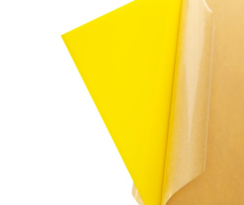 """Cast Acrylic Sheet - .118"""" Thick, TL Yellow, 12"""" x 12"""" Nominal"""