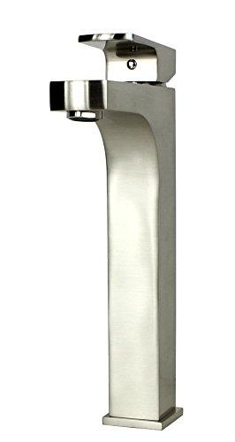 Ariel Bath BN Lewis Style-Grifo de lavabo de latón, diseño cuadrado, Acero inoxidable/níquel cepillado