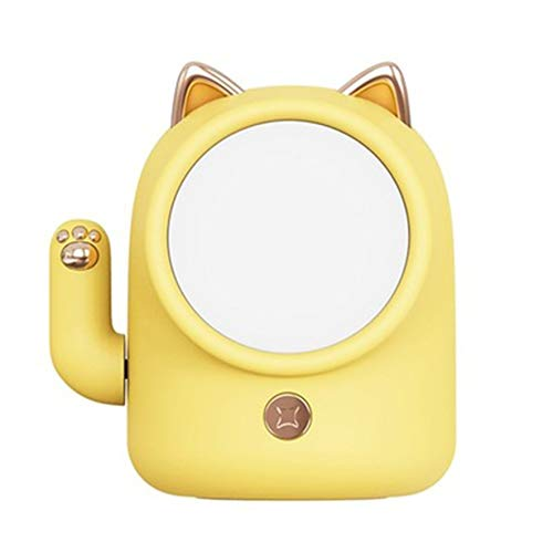 Creative Lucky Cat Night Light Kid Baby Nursery Light USB Lámpara de mesa recargable Decoración del hogar Lámpara de atmósfera - Amarillo