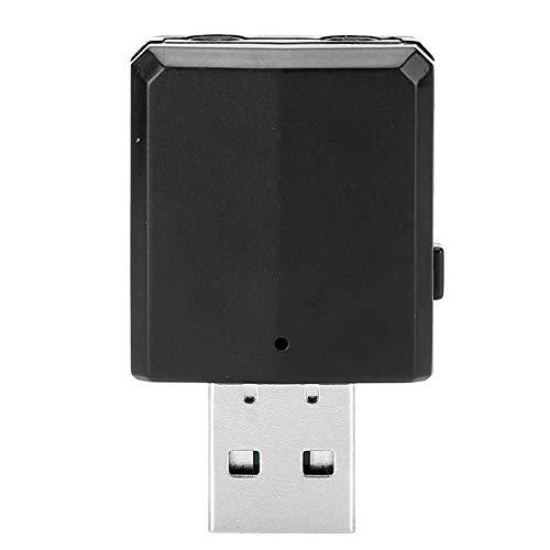 PUSOKEI Adaptador de Audio Bluetooth, Mini Dongle Bluetooth 5.0 para computadora, Receptor transmisor Bluetooth 5.0 USB 3 en 1 para Auriculares con Sistema estéreo portátil para el hogar