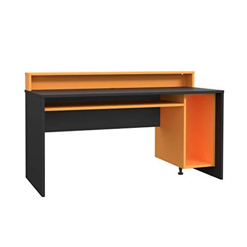 Gaming Desk TEZAUR 2 Computertisch Schwarz Orange von Forte