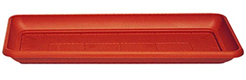 Manna Similcotto - Plato rectangular para jardineras (80 x 37,5 cm), color terracota