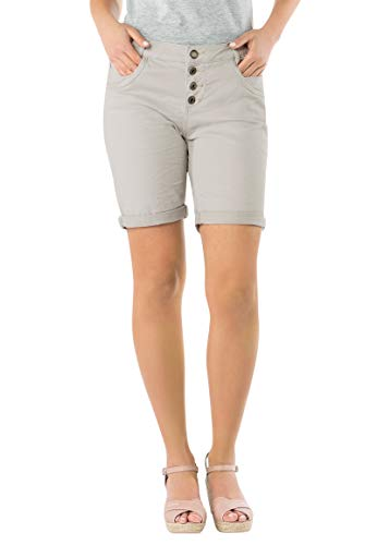 Urban Surface Damen Stoff Bermuda Shorts aus Stretch-Twill Light-beige M