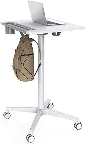 FGVBC Atril de Piso Lectura Plataforma de enseñanza del Habla Carro portátil para computadora portátil de pie Oficina Sofá de cabecera Bandeja reclinable Mobiliario de Oficina Blanco