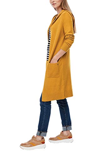 s.Oliver Damen Long-Cardigan aus Wollmix golden yellow 42