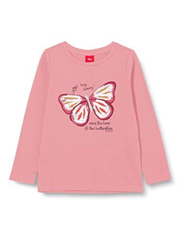 s.Oliver Junior Mädchen 403.12.009.12.130.2042388 T-Shirt, Light pink, 104/110/REG