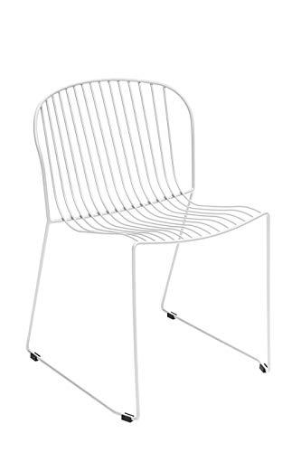 DUAMY Set de Dos sillas y una Mesa para el jardín. Set para terraza. Mesa Redonda de ø70 x 74. Set Moderno para Disfrutar de barbacoas al Aire Libre con Tus Amigos o Familiares.