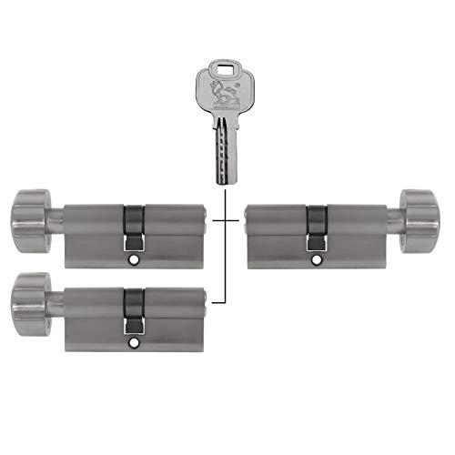 3x Knaufzylinder 70 mm 35//35 15 Schlüssel Zylinder Schloss gleichschliessend