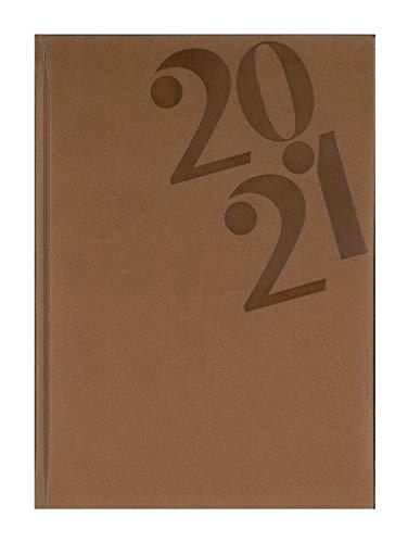 Agenda Settimanale 17x24 Centimetri Datata 2021 Copertina Rigida Acapulco AG72B (2 Cognac)