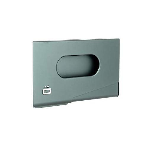 ÖGON Smart Wallets - Porta Carte One Touch - Protezione RFID: Protegge Le Tue Carte Contro Le Frodi - Alluminio Anodizzato (Platinium)