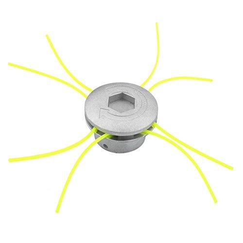Cortador de Cabeza de Aluminio Universal Accesorios de Cortacésped Herramienta de Poder Jardín de Césped Espacio Verde Residencial (2.8 * 1.8inch)