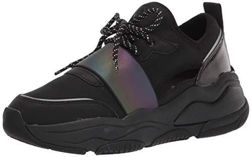 ALDO Women's Rev Fashion Lace-Up Sneakers, Black/Black, 6.5 US