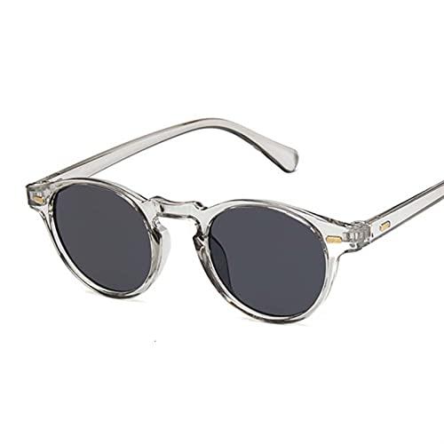 Fashions Oval Small Sunglasses Clear Classic UV400 Gafas de Sol Femeninas Tonos Transparentes para Mujeres ma (Color : 5, Size : D)