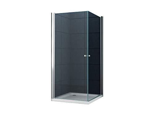 Eckeinstieg Duschkabine Dusche München 100 x 100 x 195cm / 8 mm/ohne Duschtasse