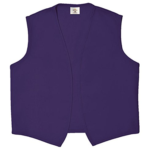 REXZO Unisex Vest No Pocket No Buttons– Made in The USA - Purple, Small