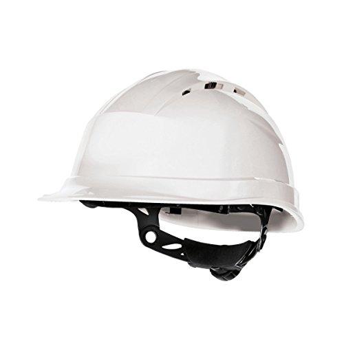 Delta plus - Casco de Seguridad en el Trabajo ventilado Modelo Quartz Rotor (Talla Única/Blanco)