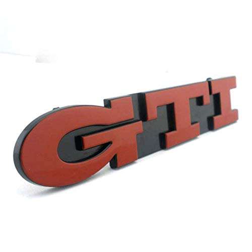 SYWY Golf3 Decal MK 3 Grille Logo Logo Rojo VR6 Coche Parrilla Frontal Insignia Emblema Pegatina Compatible con Passat Calcomanías y Pegatinas (Color Name : GT Grill Red)