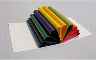 """Translucent Wax Paper or """"Kite"""" Paper. Suitable for Making Window Stars or Waldorf Stars. Comes in a Booklet of 100 sheets. Sheets are 8.66"""" Squares. 11 Different Colors"""