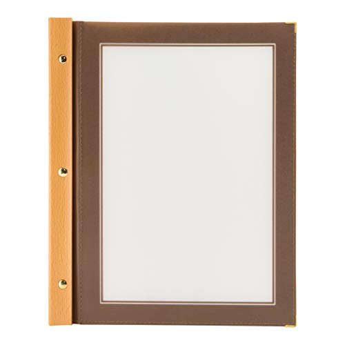 SECURIT Speisekarten-Mappe Wood, DIN A4, braun