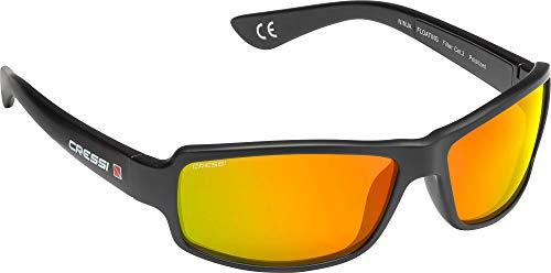 Cressi Ninja, Black, Orange Mirrored Lens