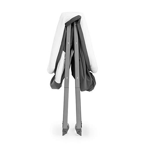 Hauck Dreamer Babywiege/Stubenwagen/Beistell-/Reisebett, inkl. Matratze und Spielzeugtasche, mit Schaukelfunktion, faltbar, klappbar und tragbar, Grau - 12