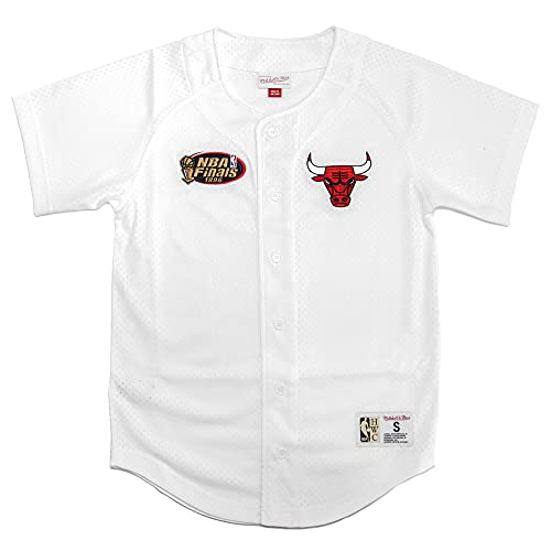 Mitchell & Ness BP - Camiseta de malla para béisbol, Chicago Bulls White, L