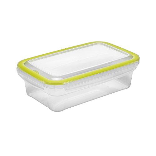 Addis Cleanseal 1,2 liter voedsel vers vast hygiënische afdichting opslag container, helder groen, 24 x 15 x 26 cm