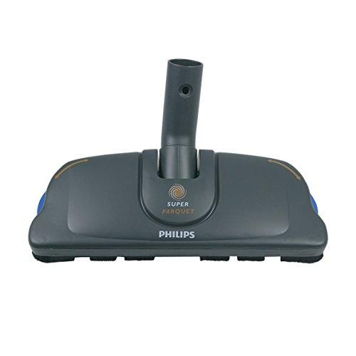 Philips 432200420110 ORIGINAL Hartbodendüse Düse Borstendüse Bodenbürste Parkettdüse SuperParquet FC8042 mit Mikrofaserpads Staubsauger