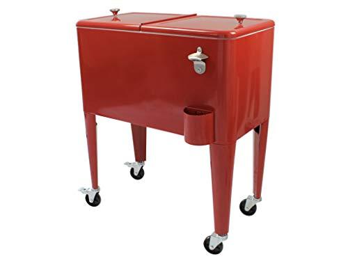 Kailua Cooler - Amerikanische Kühlbox, Kühlwagen, Party Getränkekühler, Rot