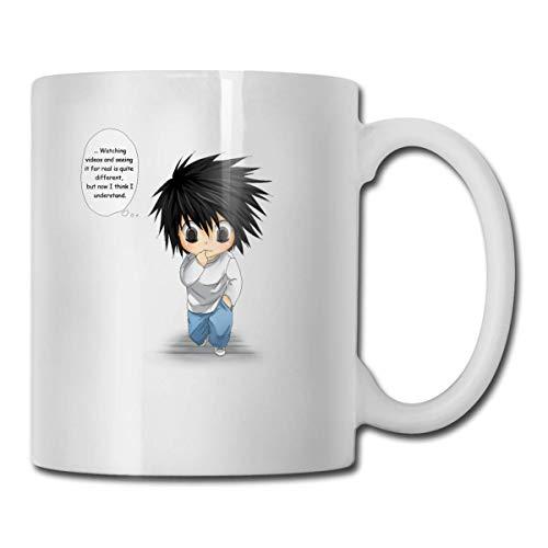 N\A Death Note Apellido L Lawliet Comic Eating Fingers Tazas de cerámica Código 330ml
