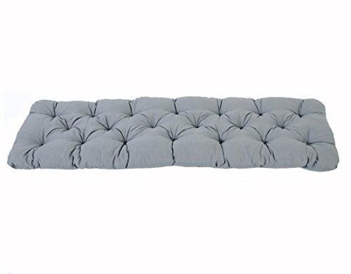 Ambientehome 3er Sitzkissen Bank Evje, grau, ca 150 x 50 x 8 cm, Polsterauflage, Bankauflage