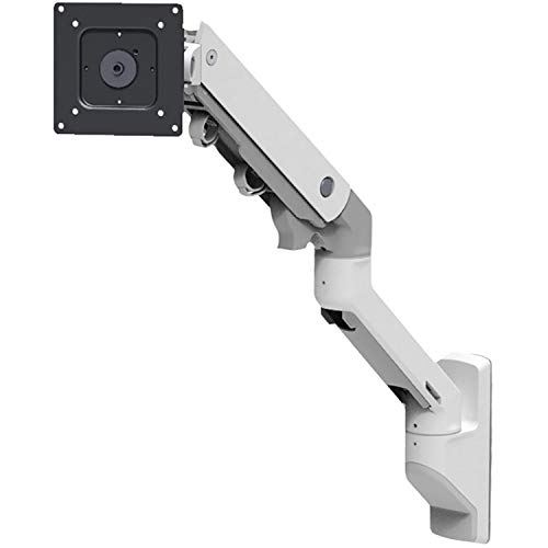 Ergotron 45-478-216 HX Wall Mount Monitor Arm in White for 20-42 lbs Monitors