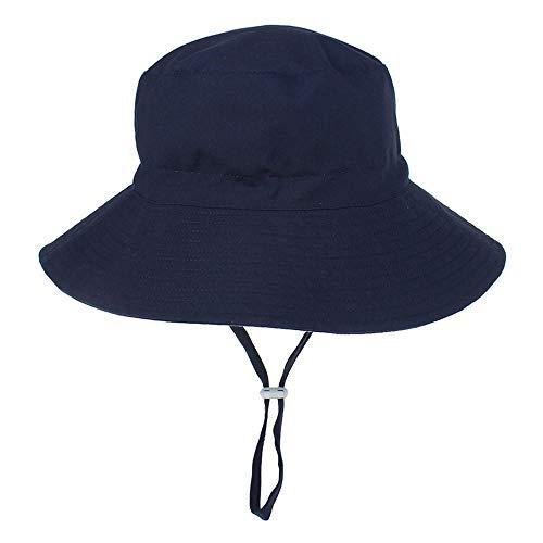 N/N Sombrero De Sol para Bebé Panama Beach Bucket Hats Gorras Infantiles De Dibujos Animados Protección UV para Niños Niños Niña Sombreros De Bebé para Niños Baby Girl-Navy_3-8_Years_Old