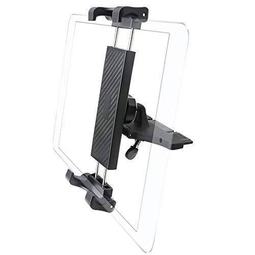 Cuxwill Supporto Tablet Auto Lettore CD, Universale Supporto Tablet Car CD Slot per iPad Pro 12.9 11 10.5 9.7, iPad Mini Air 5 4 3 2, Samsung, Microsoft Tabs e altri tablet da 7-12,9 Pollici Tablet