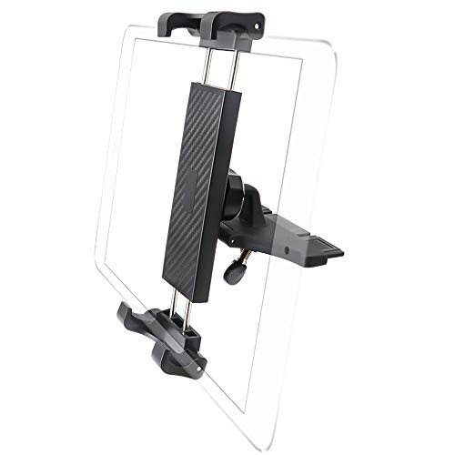 """CD Slot Tablet Holder Mount for 7-12.9"""" Tablets, EXSHOW Easy Touch Car CD Player Tablet Holder with Full Rotation for iPad Pro 12.9 11 10.5 9.7, iPad Air Mini 5 4 3 2, Samsung Galaxy and More Tablets"""