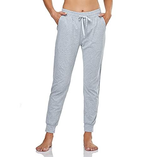 GIMDUMASA Chandal Mujer Pantalon Mujer Pantalones Deporte Mujer Pantalones de Deporte Yoga Fitness Mujer GI06(Gris,m)