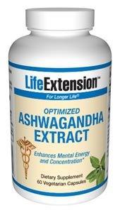 Life Extension, Optimierter Ashwagandha-Extrakt, 60 vegane Kapseln
