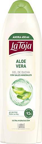 La Toja - Gel Crema de Ducha Aloe Vera 6Uds de 650 ml (3.900 ml) el Máximo Cuidado para Todos Piel Ultrahidratada para una Piel Siempre Suave, Elástica y Tersa 4050 G